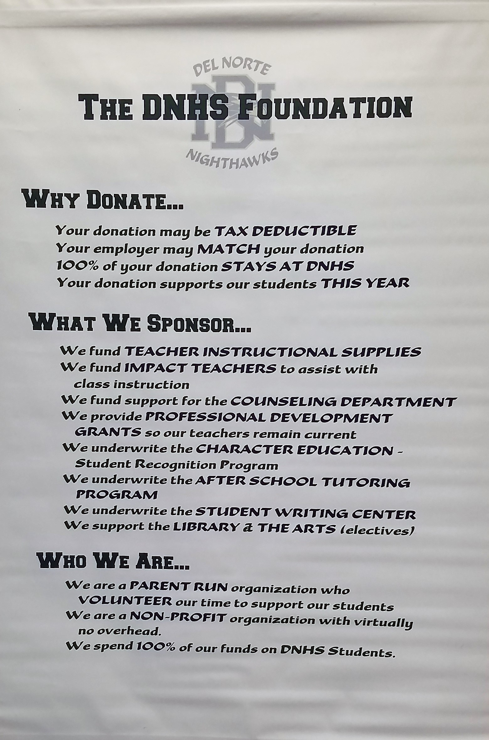 Del norte high school foundation funding our future supporting foundations message biocorpaavc